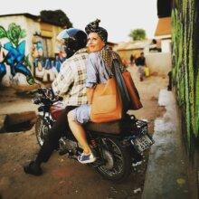 Designer Oona Ritari with El Doble bag